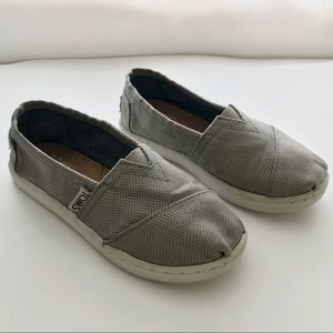 TOMS- Gray Slip-on Shoes Youth Size 12